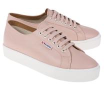 Glattleder-Sneaker mit Plateau