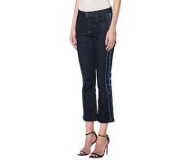 Bootcut-Jeans mit Streifen