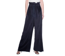 High-Waist Samt-Hose