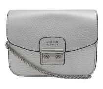 Leder-Umhängetasche im Metallic-Look  // Virginia Keys Silver