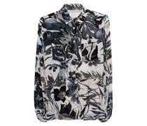 Seiden-Bluse mit Samt-Musterung