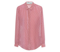Semi-Transparente Bluse mit Samt-Details