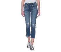 Gecroppte Straight-Leg Jeans
