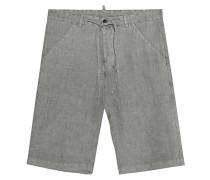 Leinen-Shorts mit Tunnelzug