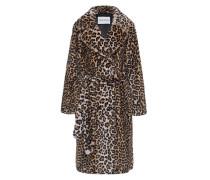 Fake-Fur Mantel im Leo-Design