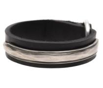 Leder-Armband mit Silber-Details
