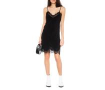 Seiden-Kleid mit Spitzen-Details