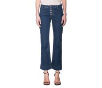 Ausgestellte High Waist Jeans