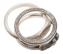 Vier Ringe aus Sterling Silber
