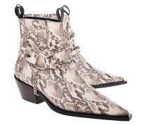 Leder-Boots mit abnehmbaren Ketten-Detail