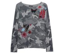 Feinstrick-Pullover mit Stickerei