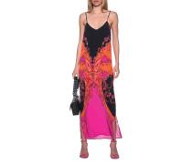 Seiden-Trägerkleid mit Paisley-Muster