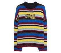 Gestreifter Pullover mit Tiger Motiv