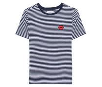 Gestreiftes T-shirt mit Patch