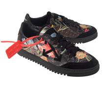 Flache Sneaker mit floralem Muster