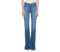 Flared High-Waist Jeans