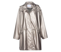 Parka im Metallic-Look