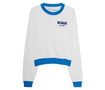 Bedrucktes Cropped Sweatshirt