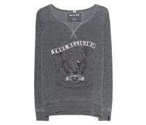 Sweatshirt mit Strassstein-Besatz