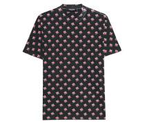 Baumwoll-T-Shirt mit Blumen-Print