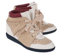 Leder-Sneakers mit Keilabsatz