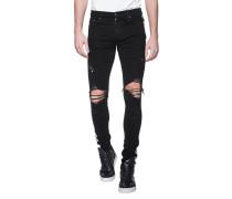Slim-Fit Jeans mit seitlichem Streifen
