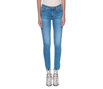 Cropped Cigarette Jeans