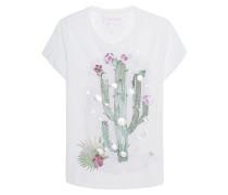 T-Shirt mit Schmuckstein-Verzierung