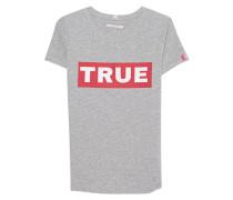 Meliertes T-Shirt mit Logo-Print