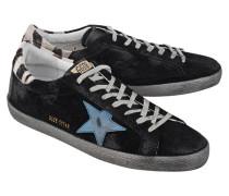 Flache Sneaker aus Veloursleder