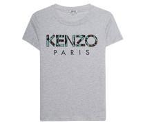 T-Shirt mit Label-Stickerei