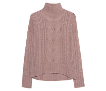 Zopfstrick-Pullover