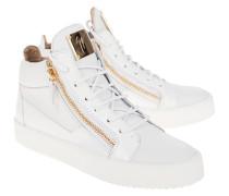 High-Top Leder-Sneakers mit Zipper