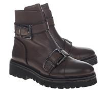 Leder-Boots mit Schnallen-Details