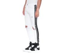 Jeans mit Streifen-Detail