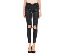 Destroyed Skinny Jeans mit Glitter Finish