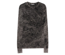 Baumwoll-Sweater im Destroyed-Look