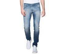 Schmale Jeans im Washed-Out-Design