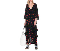 Gepunktetes Maxi-Kleid