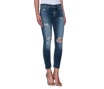 Schmale Destroyed Boyfriend-Jeans