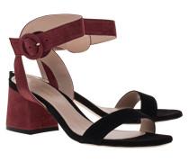 Veloursleder-Sandalette