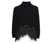 Feinstrick-Pullover mit Feder-Details