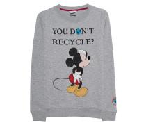 Bedrucktes Sweatshirt mit Strasssteinen