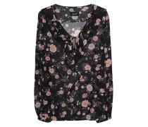 Florale Bluse mit Binde-Detail