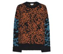 Oversize Jacquard-Pullover mit Leo-Prints