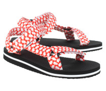 Sandale mit gemusterten Riemen