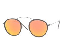 Runde Sonnenbrille mit verspiegelten Gläsern