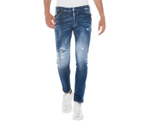 Slim-Fit Jeans im Used-Look