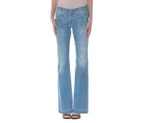 Ausgestellte Mid Waist Jeans