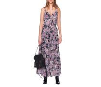 Florales Trägerkleid mit Schnürung